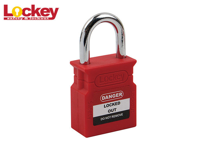 25mm Lock Out Tag Out Equipment Brady Safety Padlock With Nylon PA66 Body