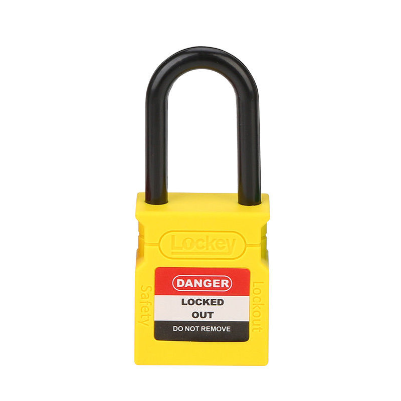 Plastic Shackle Safety Lock Out Yellow 38mm Custom Padlocks And Keys In Bulk
