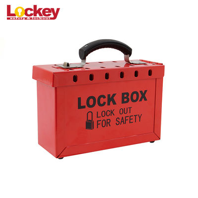 Customized Metal Group Loto Box Portable Lock Out Tag Out Lock Box 12 Padlock Capacity