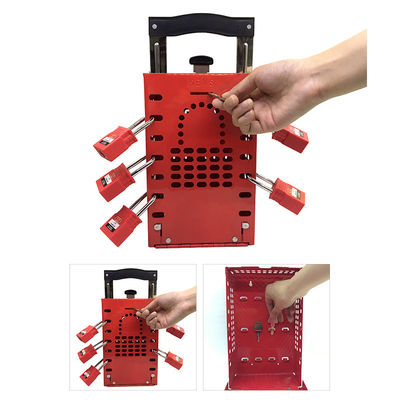 China Safety Group Loto Box , Master Lock Group Lockout Box Certification CE factory