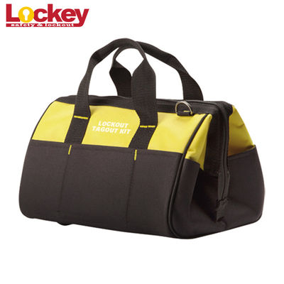 China High Performance Maintenance Lockout Kit Blue Black Portable Safety Lockout Tool Bag factory