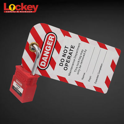 Industrial Inspection Safety Mcb Lock Loto Tag for Valve Signs Isolation Lockout