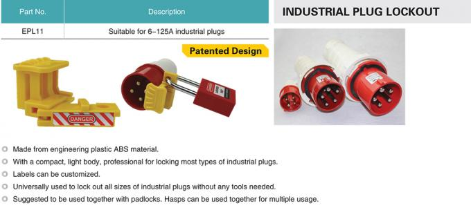 Compact Electrical Plug Lockout Device Industrial Plug Lockout ABS Material