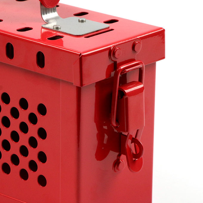 Loto Industrial Portable Steel Safety 13 Lock Group Lockout Box Free Accessories