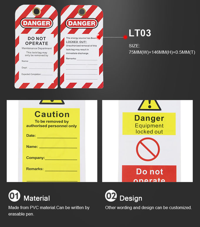 Electrical Scaffold Safety Tags For Equipment , Lock Off Tags Warning Signs