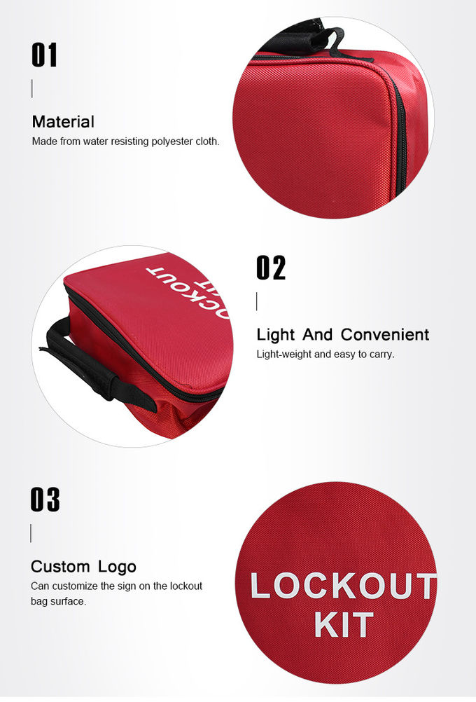 Lockey Industrial Maintenance Lockout Kit Safety Electrical Lockout Tagout Bag