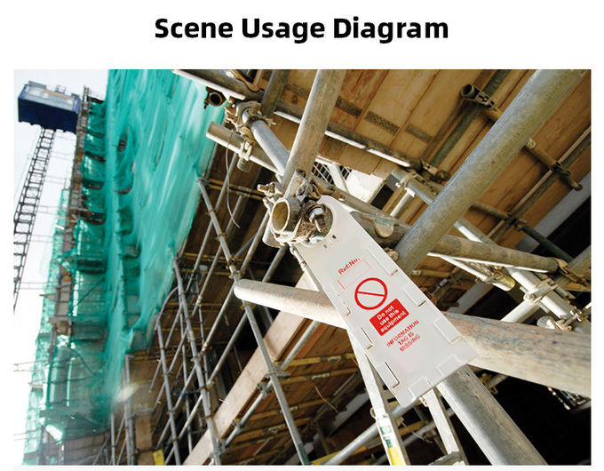 Safety Plastic Scaffold Tag Holder Printable Warning Scaffolding Identification Tags