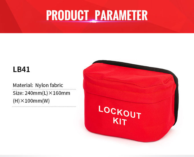 Safety Portable Lockout Tool Bag Brady Lockout Kit Support Logo OEM